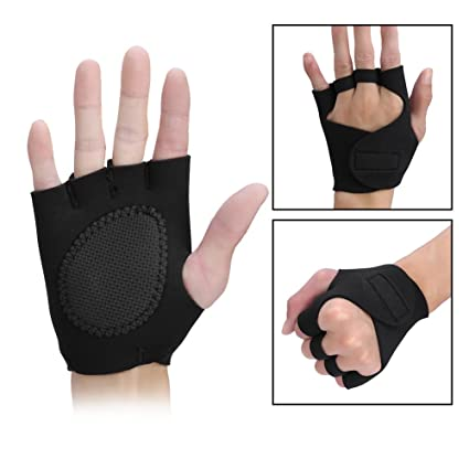 Fitness & Body Building Fitness Gloves 1pair Anti-skid Weightlifting Gloves Breathable Half Finger Fitness Exercise Training Hand Palm Protector Gym Gloves