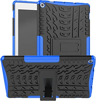 ROISKIN Dual Layer Heavy Duty Shockproof Impact Resistance Protective Case with Kickstand for Tablet 10 inch Tablet Case 2019//2017 Released 9th //7th Generation