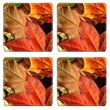 MSD Square Coasters fall leaves autumn background Image 5638980 by MSD Customized Tablemats Stain Resistance Collector Kit Kitchen Table Top DeskDrink Customized Stain Resistance Collector Kit Kitchen