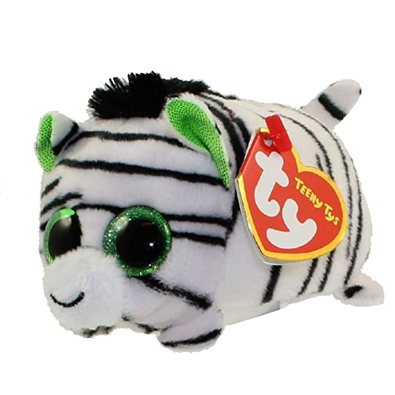 Amazon.com: Teeny Ty Zilla zebra, Ferris giraffe, Kaleb koala, Wallie alligator plush Set of 4 (free gift with purchase): Toys & Games