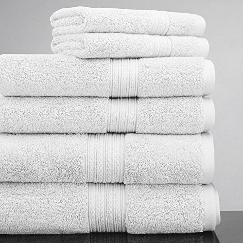 Luxor 20 Piece - Luxor Linens 100% Egyptian Cotton Luxury 6-Piece Towel Set - White - His & Hers in Gift Packaging