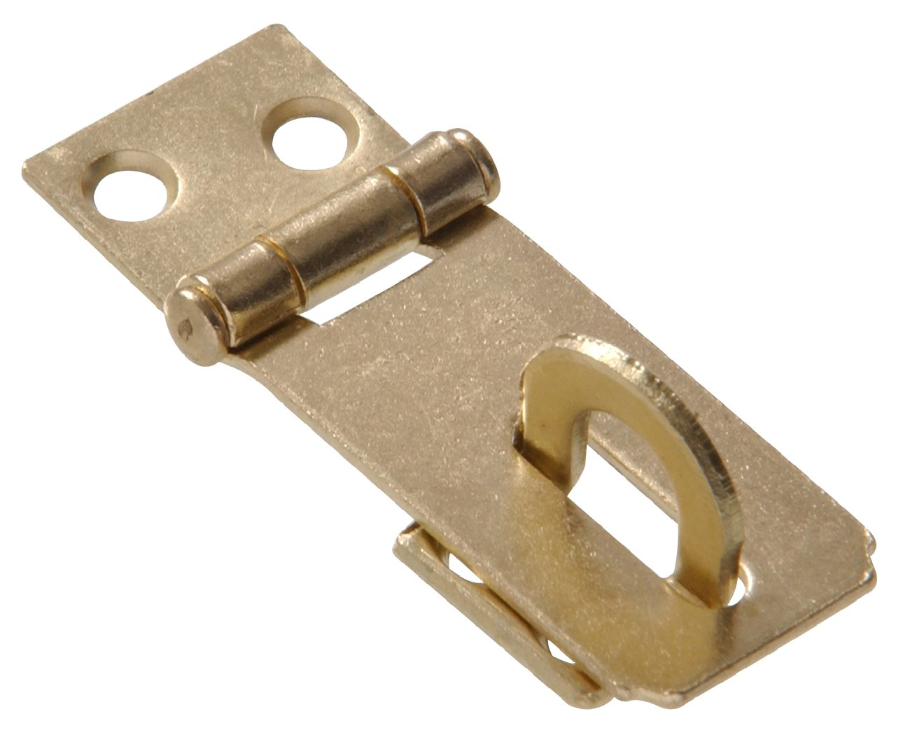 """The Hillman Group The Hillman Group 851400 2"""" - Fixed Staple Safety Hasps - Zinc & Yellow Dichromate Finish 1-Pack"""