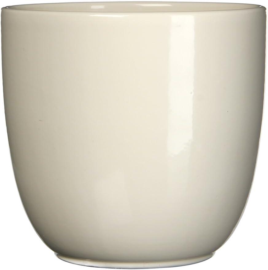 Creme MICA Decorations /Übertopf Keramik f/ür Indoor 19.5 x 19.5 x 18.5 cm