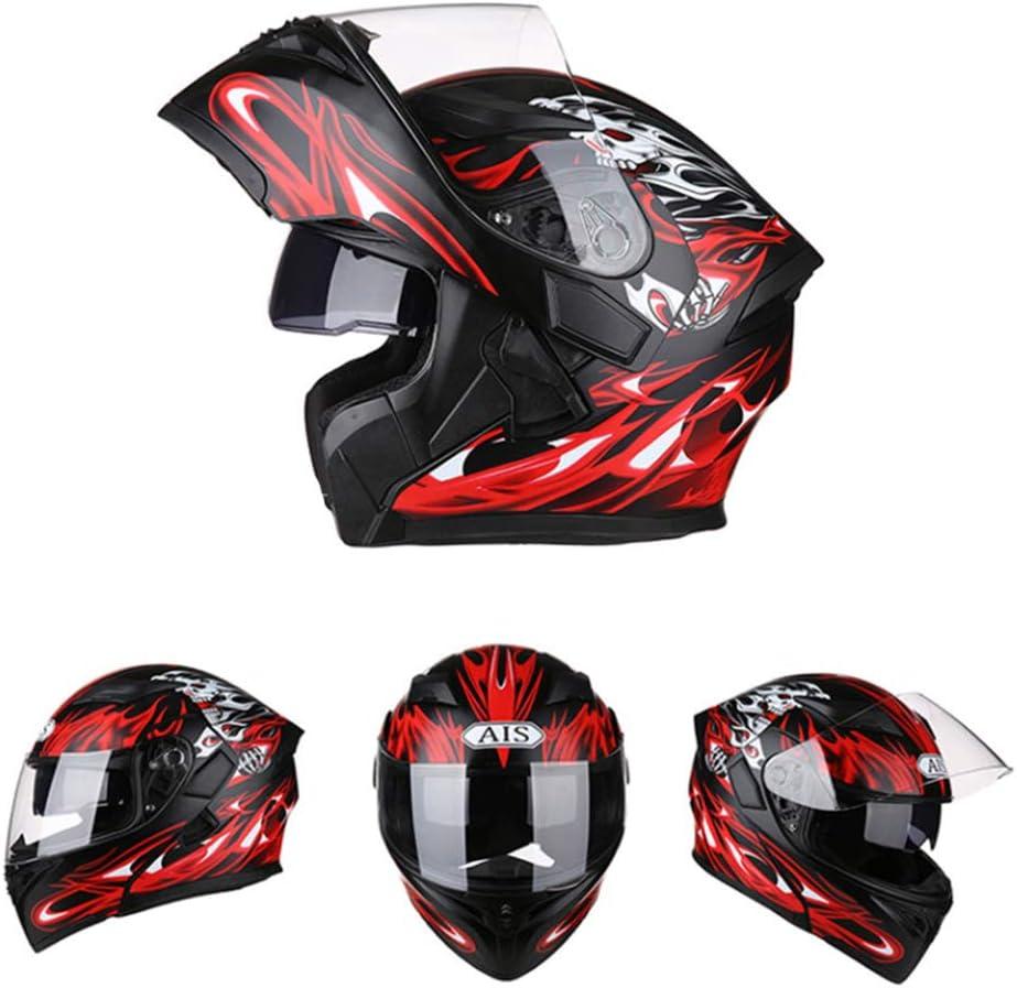 KuaiKeSport Casco Moto Integral con Bluetooth ECE Homologado,Casco Integral Moto con Gafas de Doble Protecci/ón Hombre Mujer para Motocicleta,Casco Moto Cara Completa Casco Seguridad y Transpirable