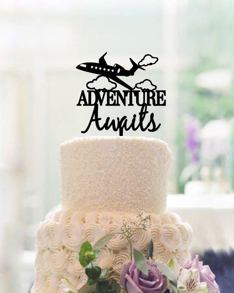 Amazon.com: Unique Design Adventure Wedding Cake Toppers ...