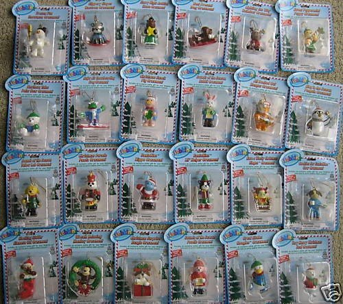(Webkinz Exclusive Holiday Ornaments Set of 24 Mini PVC Figure Ornaments)