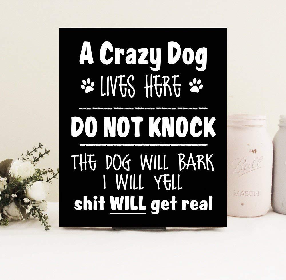 Unbekannt Emily Divertido Cartel de Bienvenida a Crazy Dog ...