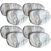 8 Replacement Bissell Microfiber Pads Fit Steam Mops, Compatible With Part # 203-2158, 2032158, 3255 & 32525, Washable & Reusable, By Think Crucial