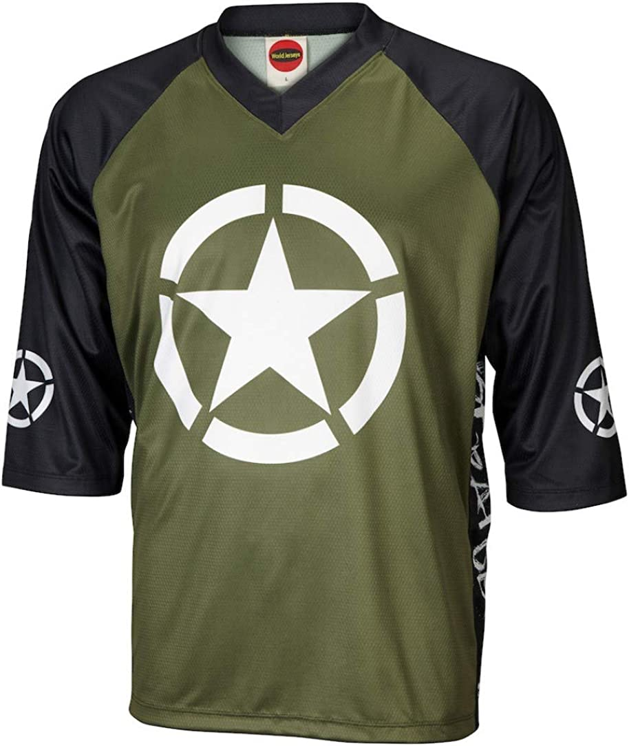 Outlaw Men/'s Mountain Bike Jersey Green Camo MTB bike bicycle camouflage