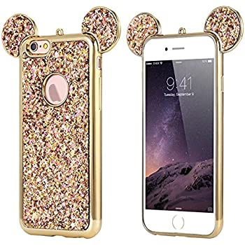 Amazon.com: AccessoryHappy Glitter Mickey Ears Case