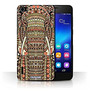 STUFF4 Phone Case / Cover for Huawei Honor 6 / Elephant-Sepia Design / Aztec Animal Design Collection