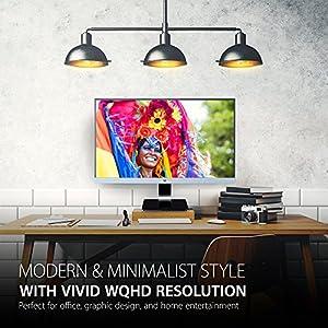 ViewSonic VX2778-SMHD 27 inch PLS WQHD 1440p Frameless LED Monitor