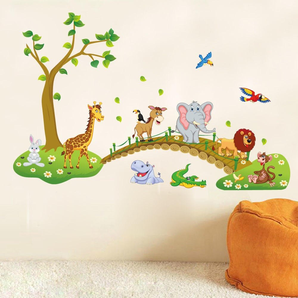 Decorstyle Giant Wall Decals for Kids Rooms, Nursery Peel & Stick, Large Removable Vinyl Wall Stickers. Premium, Eco-friendly, Bring Your Walls to Life! (Cute Forest Animal (large))