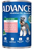 Advance Adult and Senior Chicken & Salmon 410g Dog Wet Food, pack of 12