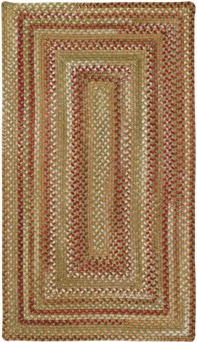 Manchester Sage Red Hues Multi Rug Rug Size: Oval 11'4