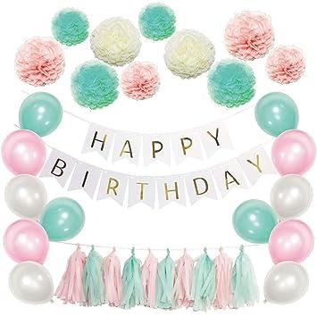 Juego de decoración de feliz cumpleaños - Estandarte con ...