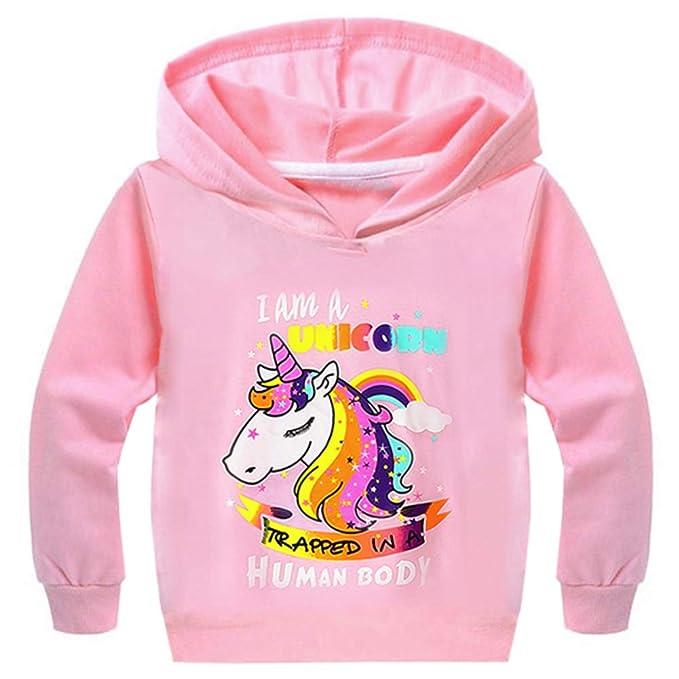 el más nuevo 9cda1 0d6f5 Amazon.com: Sunshine-G - Sudadera con capucha para niñas ...