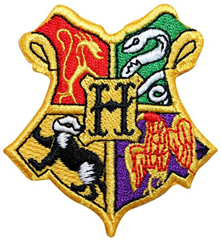 Hogwarts School of Witchcraft and Wizardry Coat of Arms Iron On Applique (Dead Disney Princess Costume)