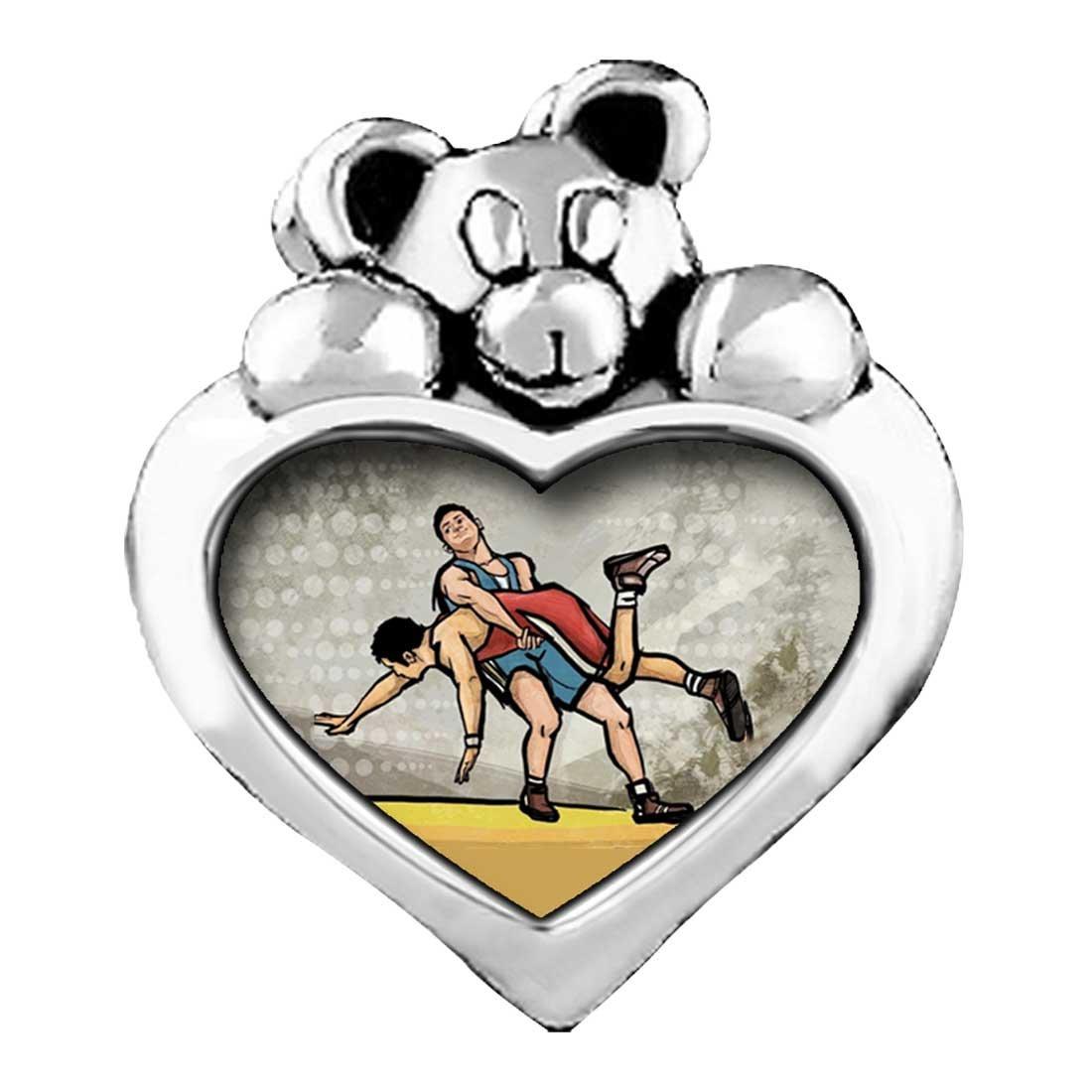 Olympics Wrestling Red Siam Crystal January Birthstone I Love You Heart Care Bear Charm Bracelets