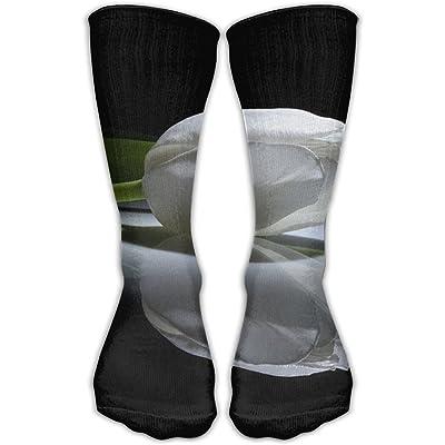 YUANSHAN Socks Elegant Tulip Flower Women & Men Socks Soccer Sock Sport Tube Stockings Length 11.8Inch