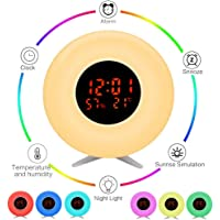 Pulchrarm Despertador Luz Infantil Luz Nocturna con Simulador