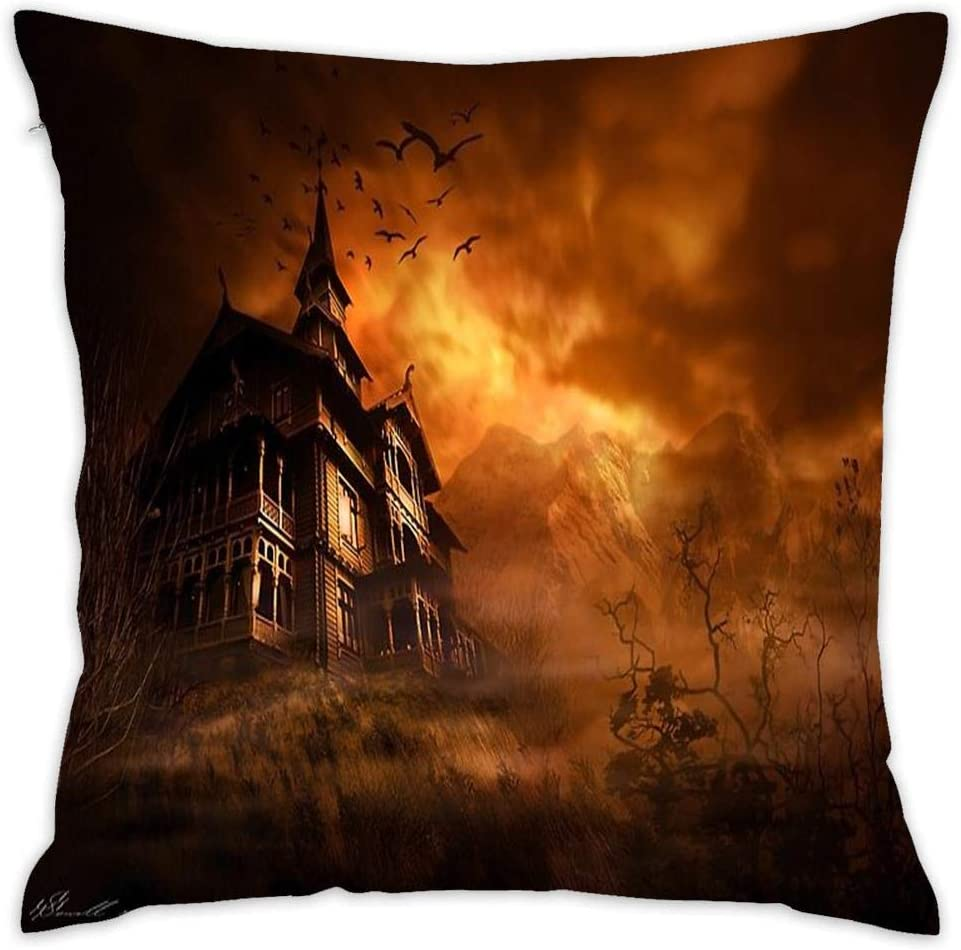 "Asefcnxkjii Forbidden Mansion Decorative Throw Pillow Covers for Couch, Sofa, or Bed Modern Quality Design (18"" 18"")"