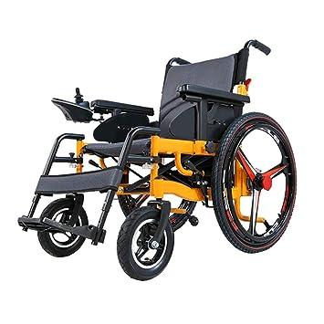 HYYBZ Plegable Silla de Ruedas Eléctrica, Vespa de 4 Ruedas discapacitada (Batería de Iones