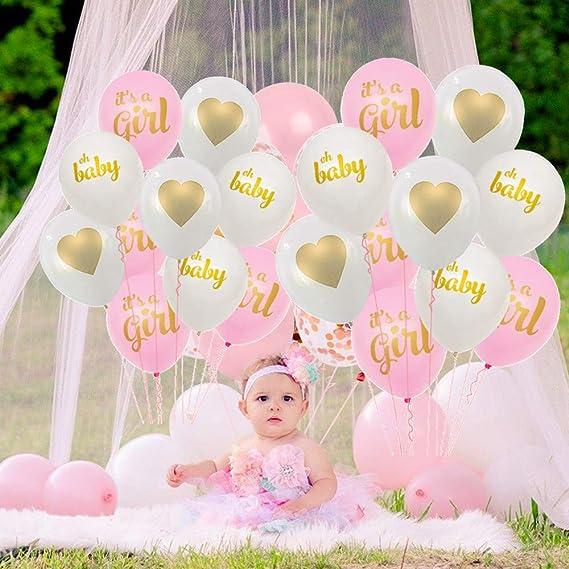 Crazy-M Decoraci/ón de Baby Shower para ni/ñas//es una ni/ña babyshower decoraci/ón//Baby Shower decoraci/ón Globos