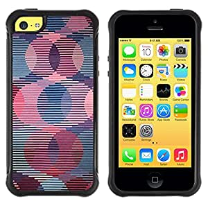 LASTONE PHONE CASE / Suave Silicona Caso Carcasa de Caucho Funda para Apple Iphone 5C / Retro Wallpaper Striped Pattern Pink