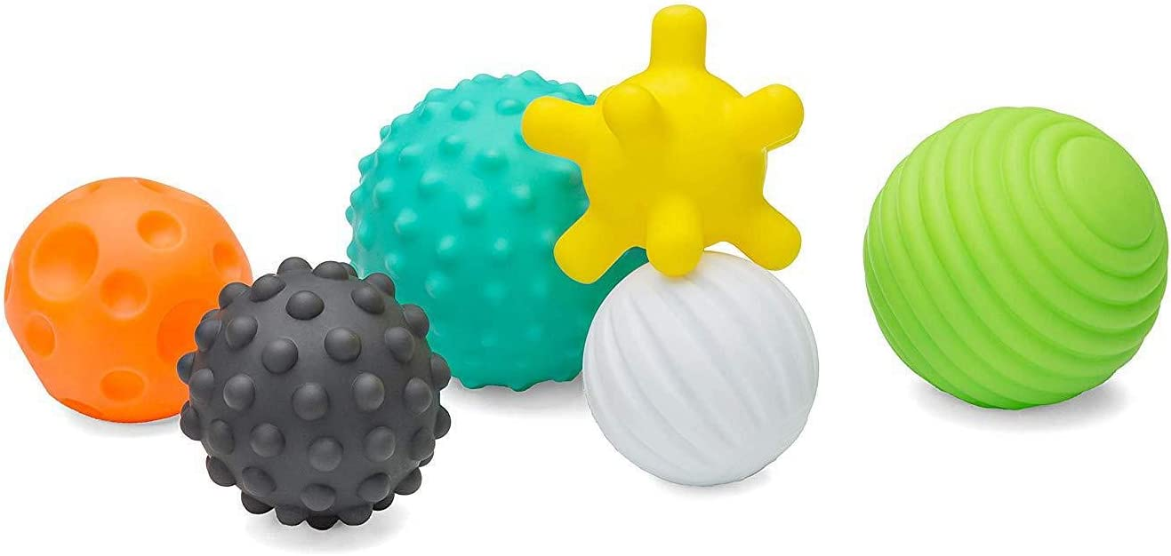 Bola sensorial del bebé 6 Pcs Pelotas Textura Ball Suaves de ...