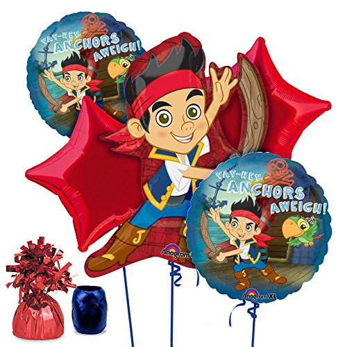 Pirate Costume Party Ideas (Costume Supercenter BB102114 Jake And The Neverland Pirates Balloon Kit)