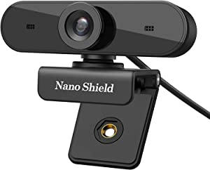 Webcam 1080P, Nano Shield N910 Full HD Compuer Web Camera Wide Angle Crystal Clear Video with Noise Cancelling Mic, Skype Webcam for PC, Mac, Laptop, Notebook, Compatible with Windows 10, 8, 7, XP