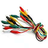 Refaxi 10pcs Double-Ended Test Leads Alligator