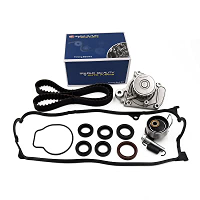 Timing Belt Kit Water Pump w/Gasket & Valve Cover Gasket Fit 2001-2005 Honda Civic 1.7L VTEC D17A 16v: Automotive