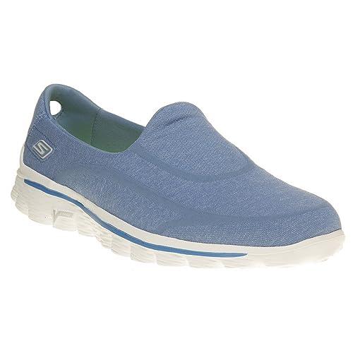 5a8e5aaeb0b24 Skechers Go Walk 2 Super Sock - Zapatilla de Estar por casa Mujer   Amazon.es  Zapatos y complementos
