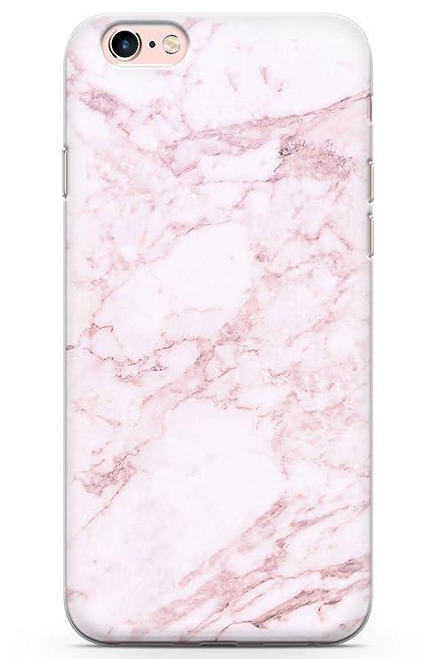 iPhone 6 / 6s Mármol Rosa Funda de Teléfono de Goma Cover Oro Rosa Nubes Sonrojo Pastel Sueño