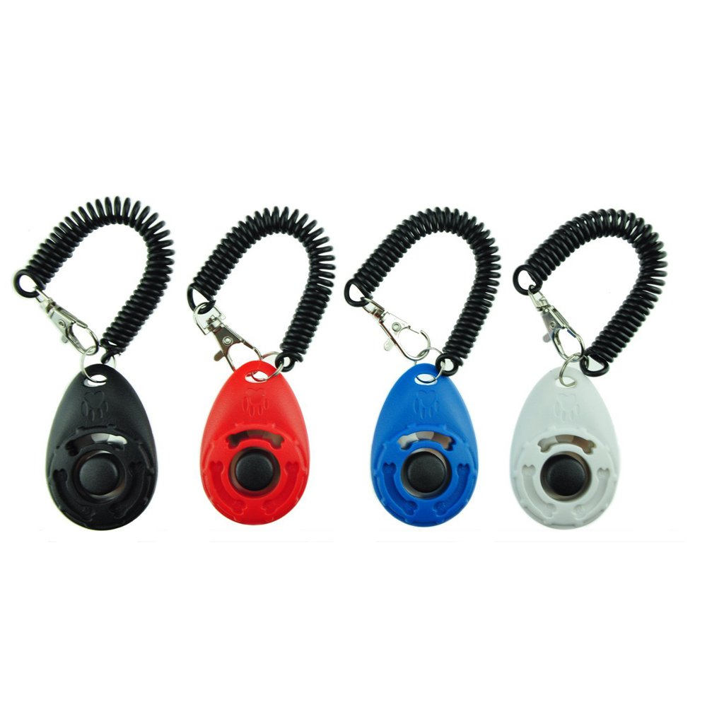 Dog Training Clicker with Wrist Strap - Pet Training Clicker Set by(4 color new)