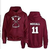 Beacon Hills Lacrosse Hoodie, Teen Wolf Hoodie Stilinski, Hooded Sweatshirt Men Pullover, Maroon Hooded Sweatshirt for…