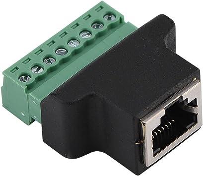 Fosa Dvr Ethernet Stecker Rj45 Buchse Auf 8 Pin Elektronik