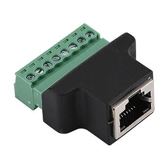 Dvr Ethernet Stecker Rj45 Buchse Auf 8 Polige Schraube Terminal Stecker Ethernet Kabel Extender Adapter Cctv Digitaler Dvr Netzwerkadapter Inline Koppler Gewerbe Industrie Wissenschaft