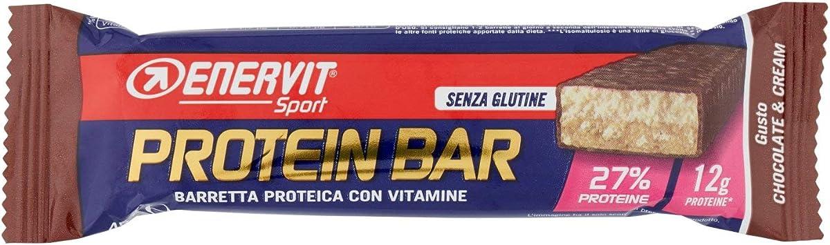 Barra de Proteína de chocolate y crema de 45gr Enervit deporte de la ENERGÍA