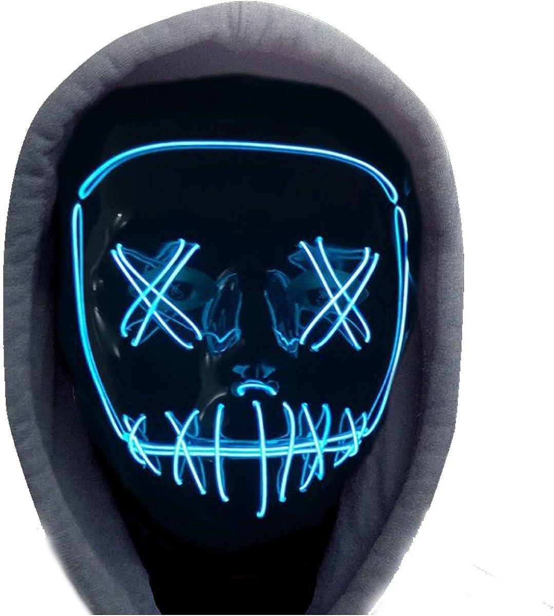 Adulte Halloween LED Light Up Mask Halloween Costume Fournitures pour la W3U3