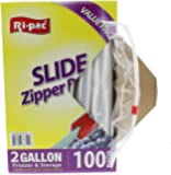 Ri Pac 2 Gallon Slide Zipper Freezer Bags - 100 Count - Food Storage