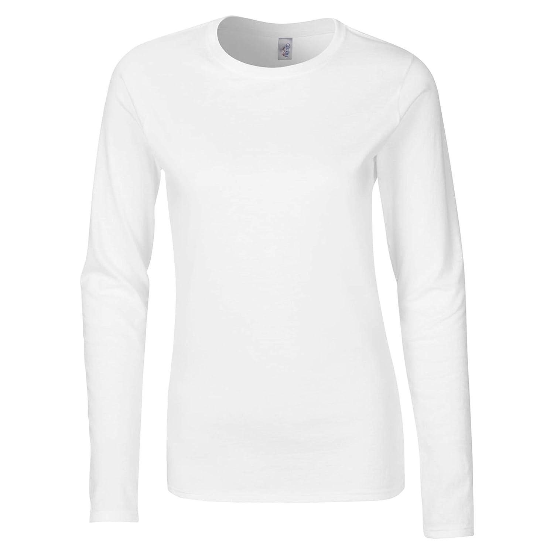 Gildan Damen Langarm T-Shirt//Sweatshirt