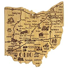 Celebrate life in The Buckeye State with the Totally Bamboo Ohio State Destination Bamboo Serving and Cutting Board. This beautifully crafted board is shaped in the outline of the great state of Ohio and features fun, laser-engraved call outs...