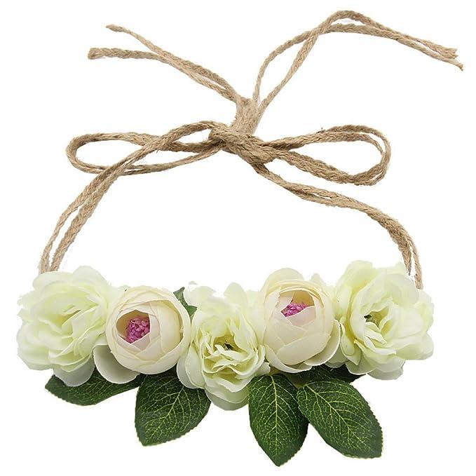 Cuigu Blumen Haar Girlande Fur Hochzeit Handgemachte Krone