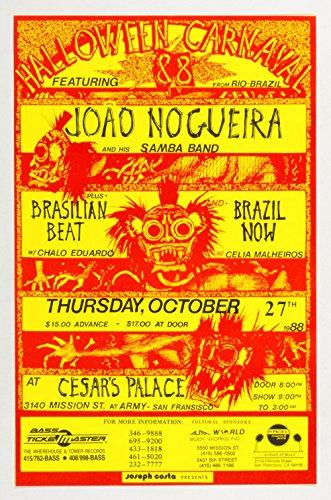 Halloween Carnaval Poster Joao Nogueira Brasilian Beat 1988 Oct 27 -