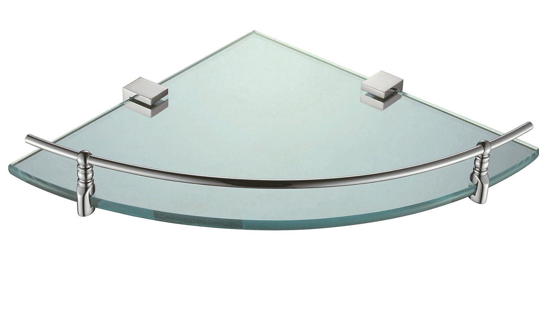 Triangolare angolo bagagli mensola di vetro: Amazon.it: Casa e cucina