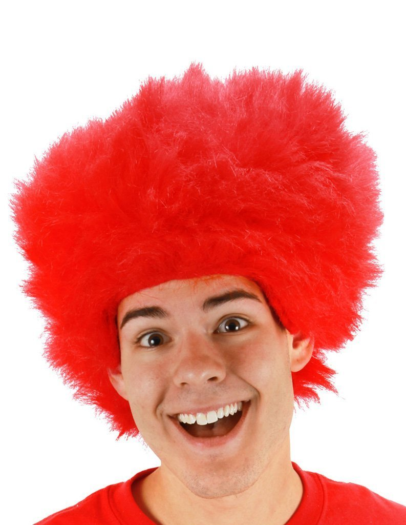 elope Red Fuzzy Wig
