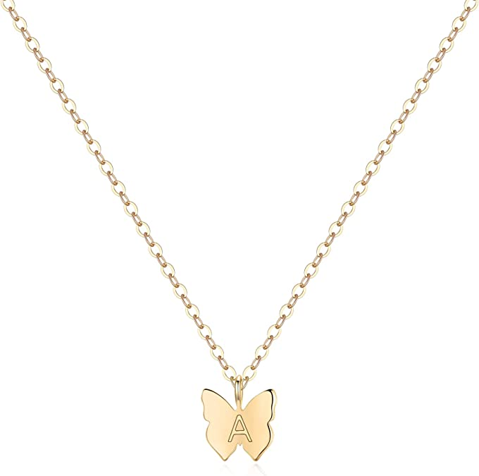 Handmade Solid Gold Tiny Butterfly Necklace Handmade Solid Gold Jewellery